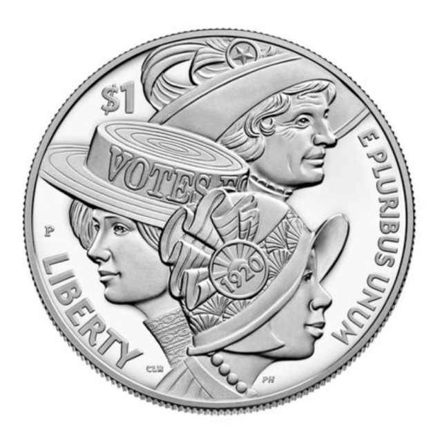 2020 Women's Suffrage Centennial Proof Silver Dollar Commemorative