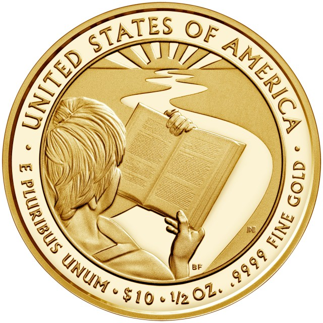 Barbara Bush First Spouse Gold Coin Proof Reverse