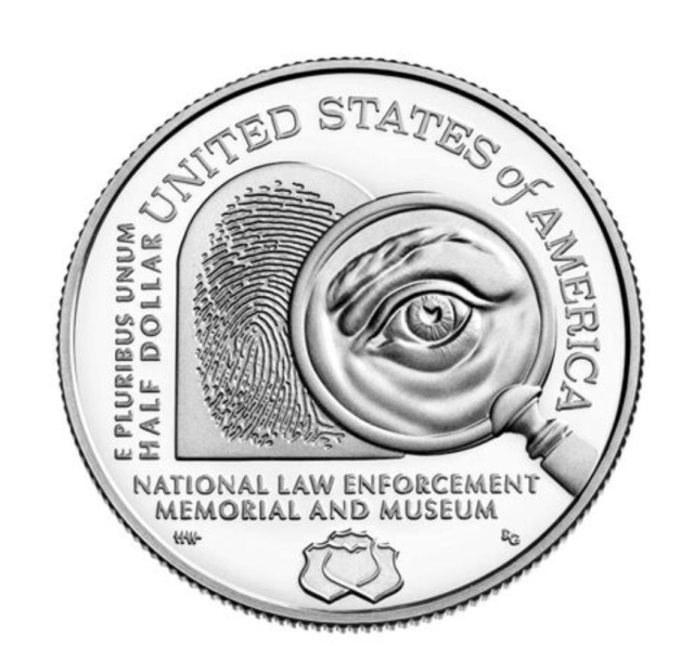 National Law Enforcement Memorial and Museum 2021 Proof Clad Half Dollar Reverse