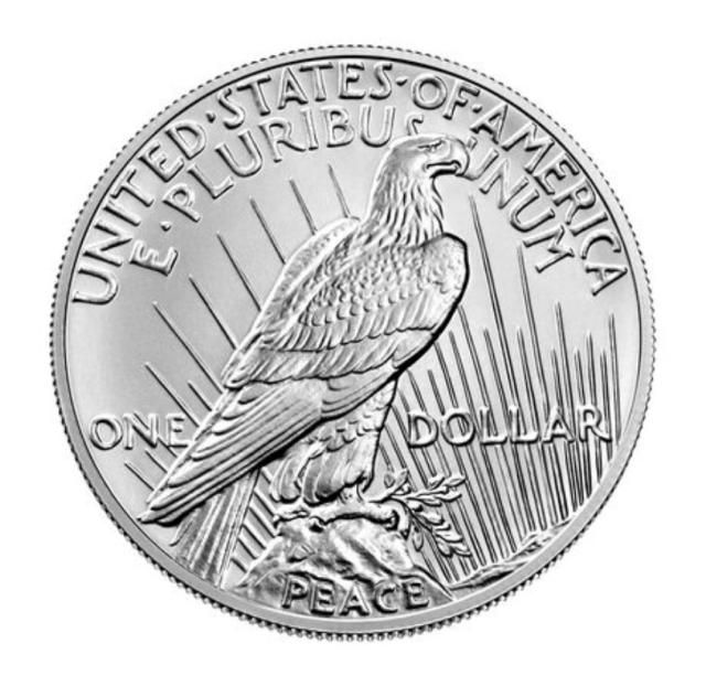 2021 Peace Dollar Reverse ((Image Courtesy of The United States Mint)
