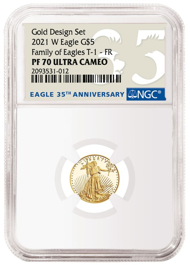 2021-W American Eagle Gold One-Tenth Ounce Type-1 (Image Courtesy of NGC)