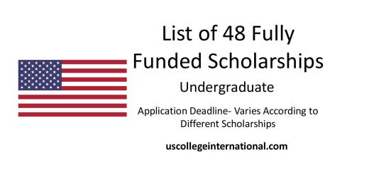 48 full tuition scholarships