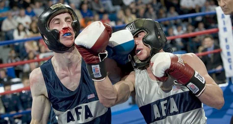 sparring with or without headgear