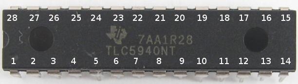 Драйвер светодиодов TLC5940