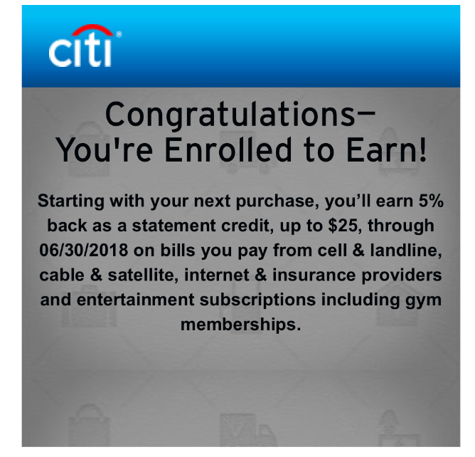 Citi 5% 12   美國信用卡情報站