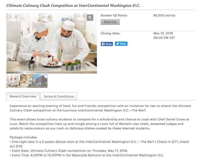 ihg dc culinary event