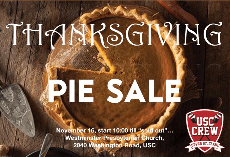USC Rowing CREW Pie Sale Pop-up Thanksgiving