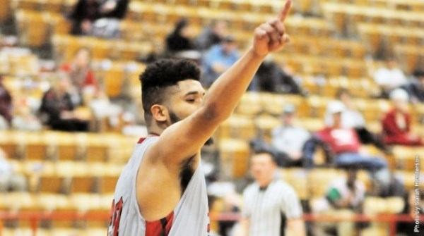 Antonio Manns, Jr. set a season high with 34 points scored in the Aggies' win against Ecclesia College Thursday evening.—Sarah Henderson photo