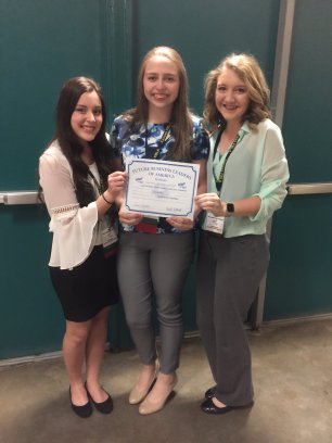 National Qualifiers: 4th place in State in Social Media Campaign - Caitlin Low, Wyntr Jacobs & Laura Ridings