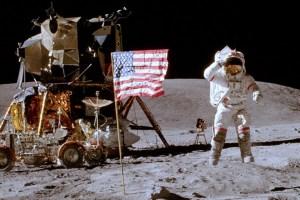 Charlie Duke Horsing Around On The Moon