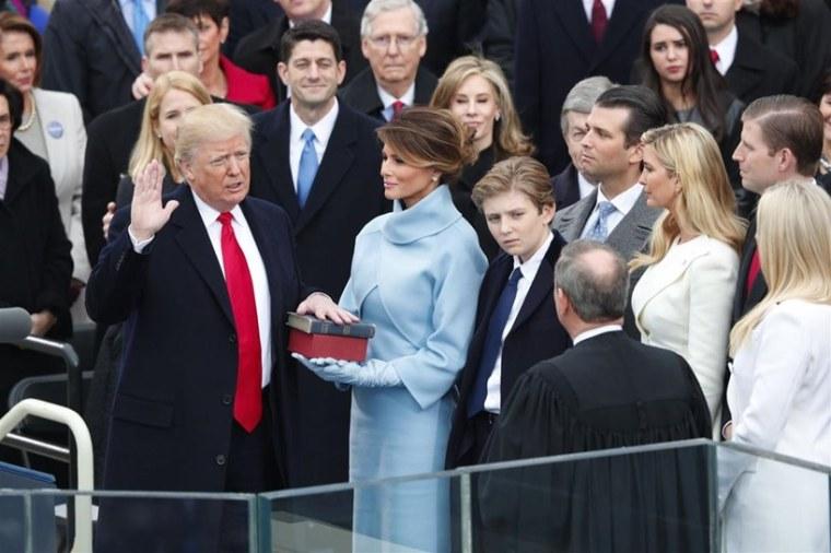 Donald Trump Melania Ivanka Barack Obama Inauguration