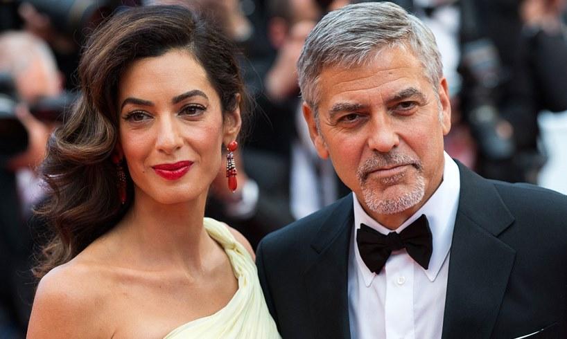 Amal George Clooney Twins Alexander Ella