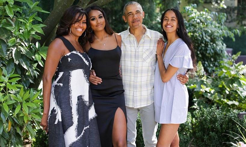 Michelle Obama Sasha Barack Malia White House Childhood