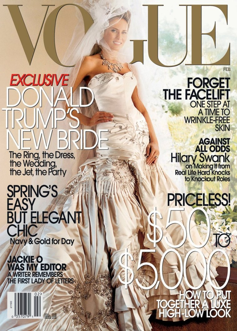Melania Trump President Donald Vogue Wedding Memoir