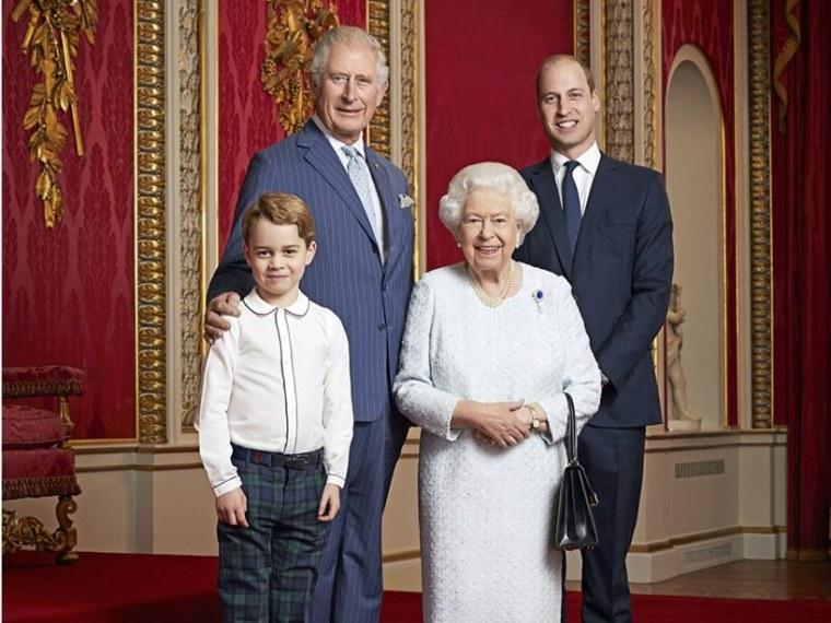 Prince George Charles Queen Elizabeth William Meghan Markle Photo Feud