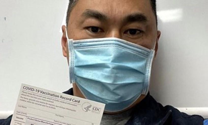 Matthew W. ER Nurse San Diego California Pfizer Vaccine COVID Coronavirus