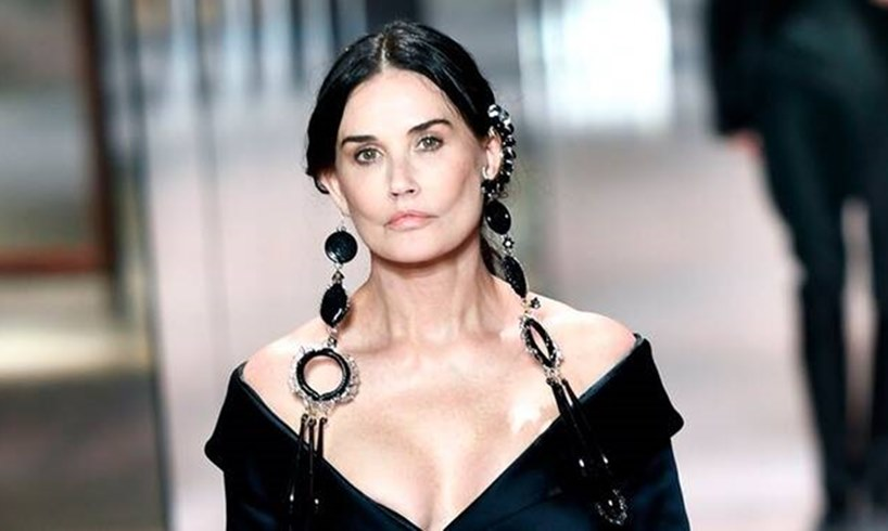 Demi Moore Fendi Fashion Week Plastic Surgery
