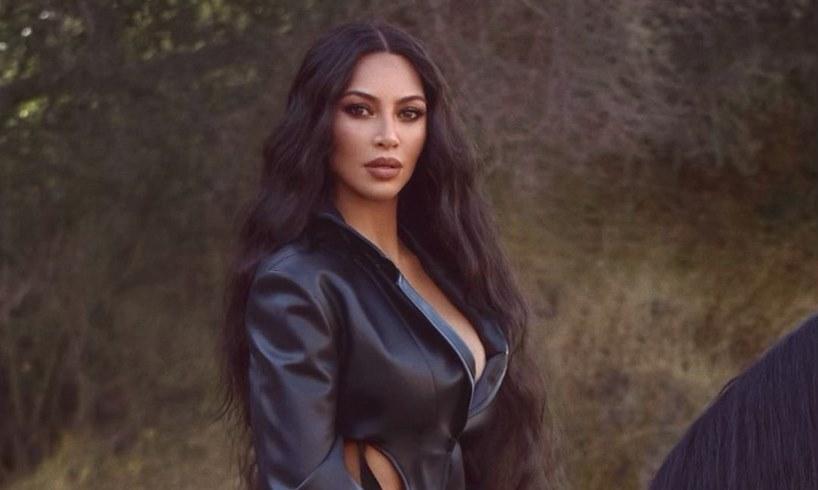 Kim Kardashian Working Out Photo With Blonde Wig Kanye West Divorce