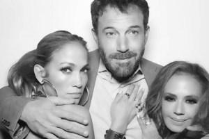 Jennifer Lopez Ben Affleck Leah Remini Instagram Official Photo