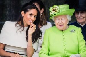 Meghan Markle Queen Elizabeth Prince Harry Lilibeth Diana Mountbatten Windsor Baptism