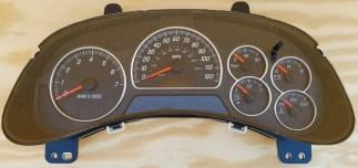 02 03 04 Rebuilt Gmc Envoy Gauge Cluster Without Steering Wheel Controls Us Dashworks