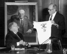 Judge Malcolm Marsh with James Redden and Robert Belloni portrait.