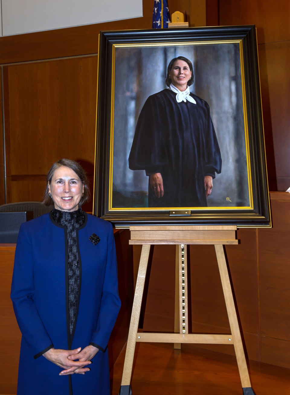 Magistrate Judge Janice Stewart and her portrait