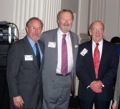 Three former Oregon Attorneys General: Gov. Ted Kulongoski, Attorney General Dave Frohnmayer and Sr. Judge James A. Redden in 2012.