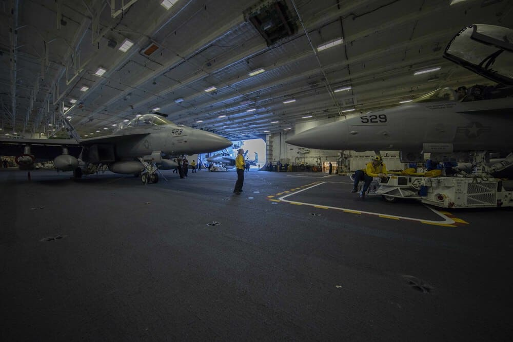 USS Gerald R. Ford's (CVN 78) flight deck operations during aircraft compatibility testing (ACT) - US Defense Story