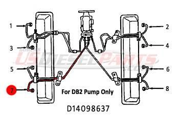 #7 Fuel Injection Line 6.2L 6.5L Mechanical