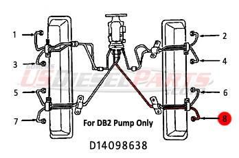 #8 Fuel Injection Line 6.2L 6.5L Mechanical