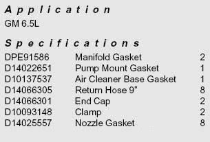 6.5L Pump Injector Installation Kit