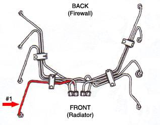 #1 High Pressure Fuel Injection Line Ford 6.9L 7.3L