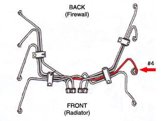 #4 High Pressure Fuel Injection Line Ford 6.9L 7.3L