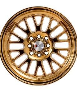 F1R wheels F04 Gold Chrome
