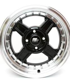 MST wheels Kunai Black Machined Lip