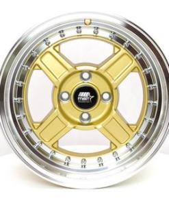 MST wheels Kunai Gold Machined Lip
