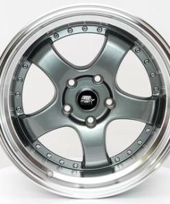 MST wheels MT07 Gun Metal Machined Lip