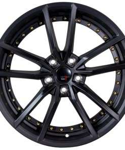 Options Lab wheels S409 Matte Black Gold Rivets