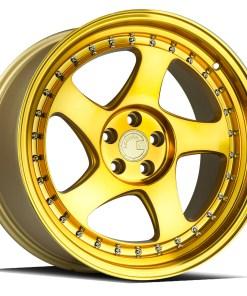 AH01 AH01 18X9.5 5X114.3 Machined Gold