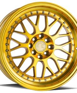 AH02 AH02 17X8 5X100/114.3 Gold Machined Lip