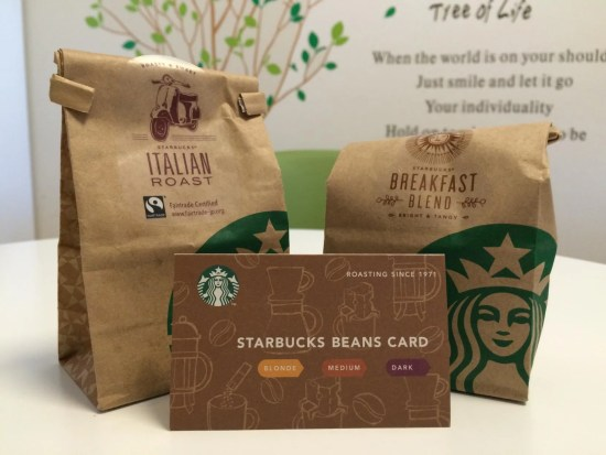 STARBUCKS BEANS CARD