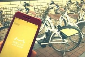 仕事の移動もシェアサイクル HELLO CYCLING