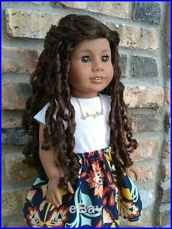Zaria Custom Ooak African American Girl Doll Brown Natural Curly
