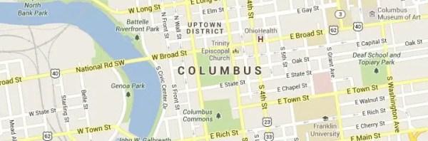 Columbus OH Map
