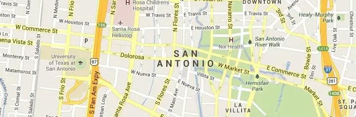 San Antonio TX Map