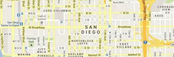 San Diego CA Map