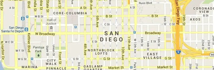 San Diego CA Map