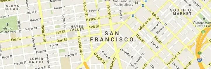 San Francisco CA Map