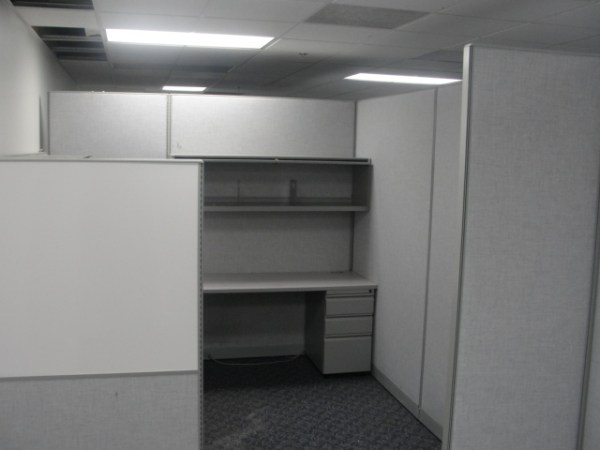 Used Cubicles by Trendway 8X8 and 67 tall Light Gray Philadelphia Pennsylvania1